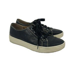 Sofft Baltazar Black Leather Lace Up Sneakers